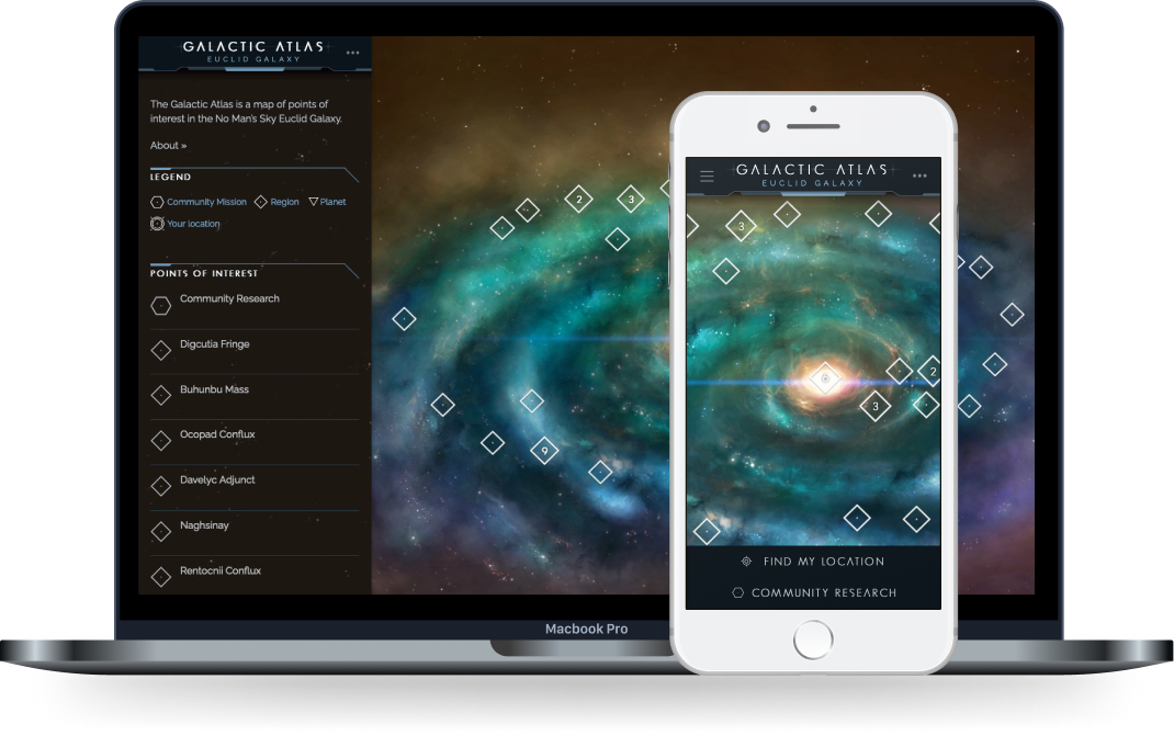 The Galactic Atlas, an addition to the game made after launch
